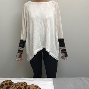 A cozy and unique long sleeve shirt